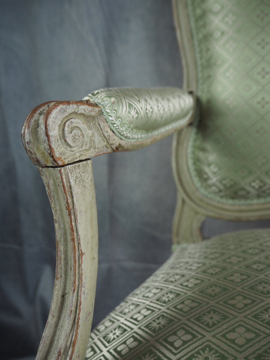 Transition Armchair, Stamped N.s. Courtois, Circa 1770-photo-5