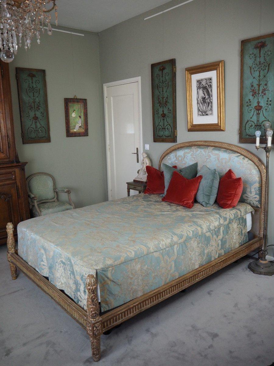 Lit De Style Louis XVI,  pour matelas de 140 x 200 cm-photo-2
