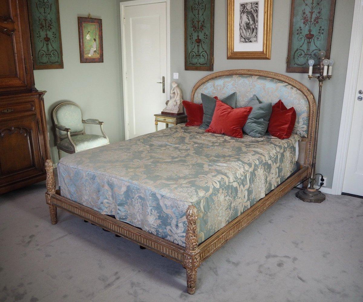 Lit De Style Louis XVI,  pour matelas de 140 x 200 cm
