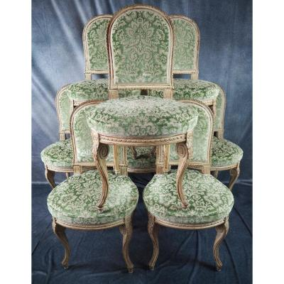 Suite Of 8 Louis XVI Style Dining Chairs , Model 'jacob',  Circa 1900