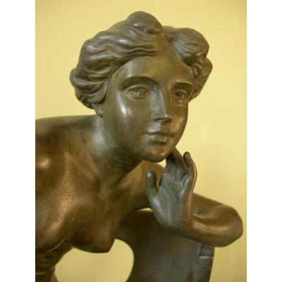 Sculpture 'musique', E. Tell / Goldscheider, Vers 1905