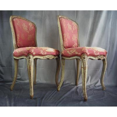 Pair De Chaises Louis XV