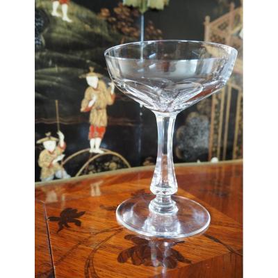 Quatre Coupes à Champagne En Cristal Français