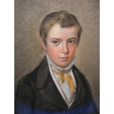Young Man Pastel XIXth To Frame Drawing