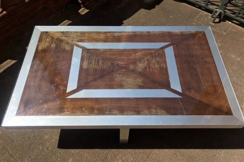 Table Basse  Maison Jansen Des Années 70-photo-3