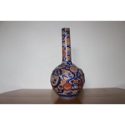 Vase En Porcelaine Du Japon, émaux Imari, Fin XIXème