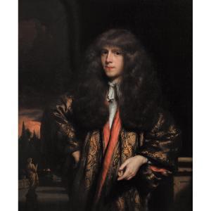 Portrait d'Un Jeune Gentilhomme Hollandais Par Nicolaes Maes (1634-1693)