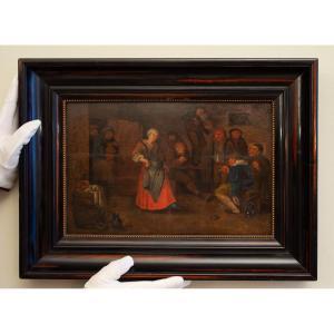 Une Femme Dansant Sur La Musique d'Un Violon, Entourage De Adriaen Van Ostade