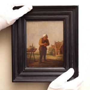 Un Paysan Enlevant Un Plâtre : Le Sens Du Toucher. Entourage De David Teniers