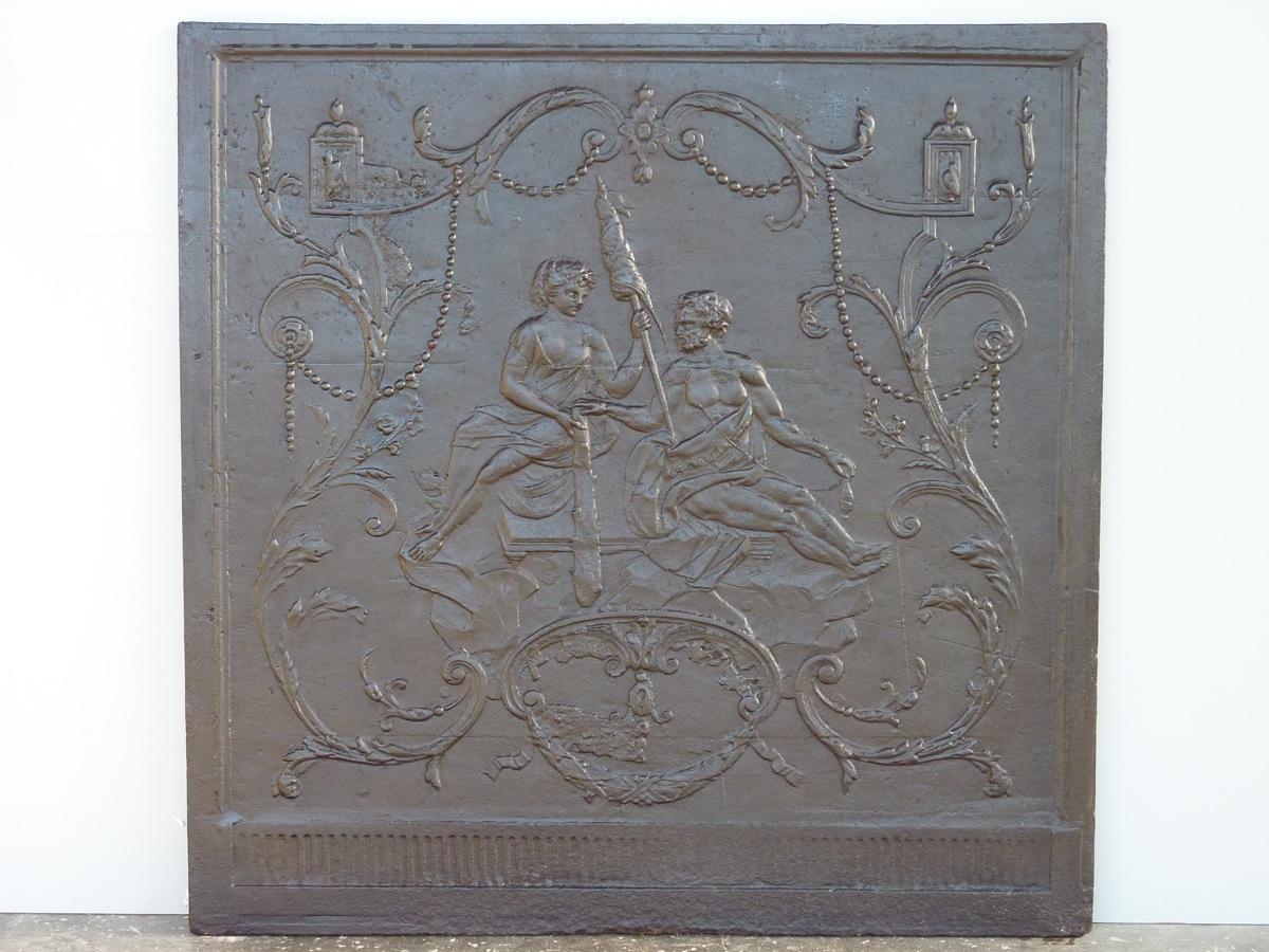 Plaque De Cheminée Hercule et d'Omphale (100 x 100 cm)