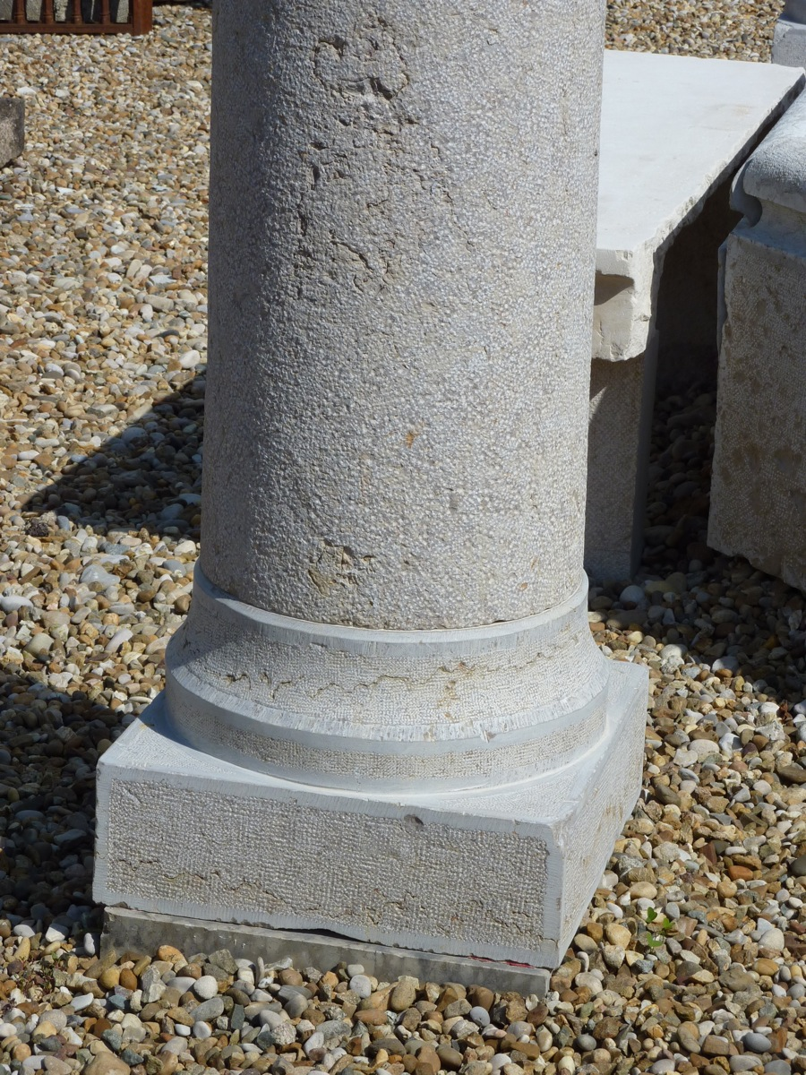 Pair This Hard Stone Columns Dating Back To The Nineteenth Century-photo-2