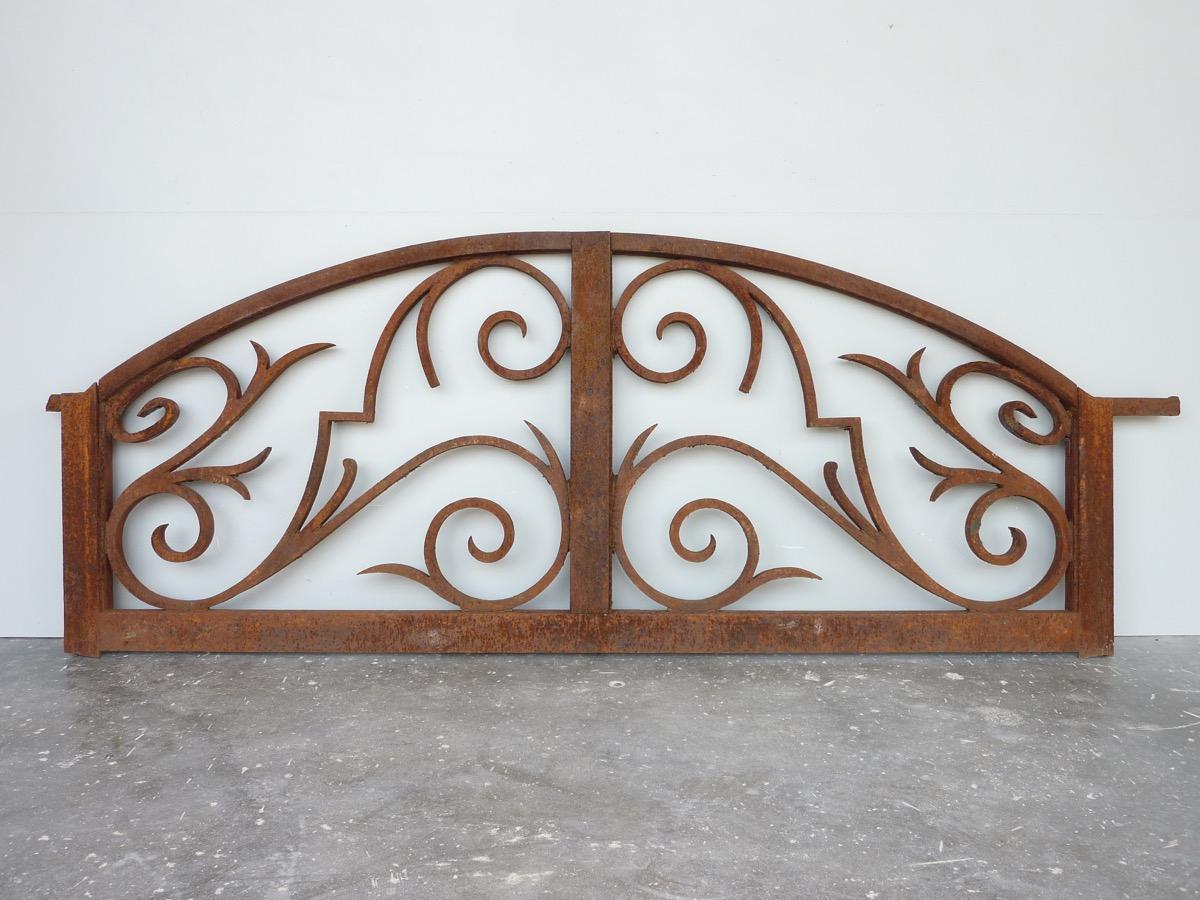 Wrought Iron Gate Pediment