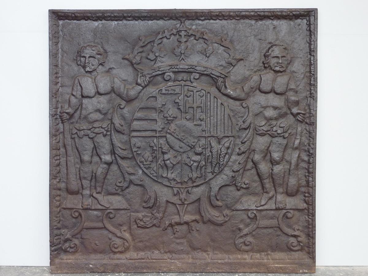 Plaque De Cheminée Aux Armes Du Duc De Lorraine