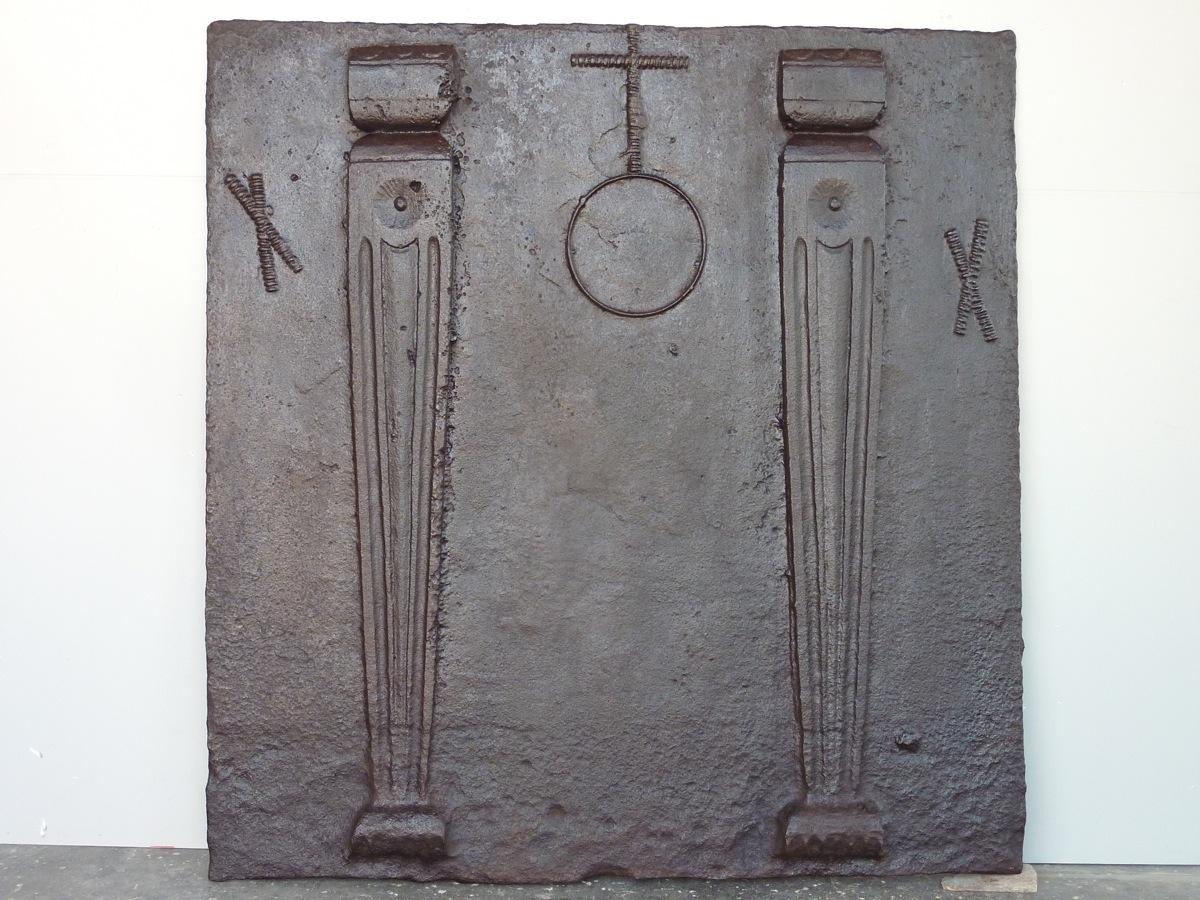 Plaque de cheminée d'époque Renaissance