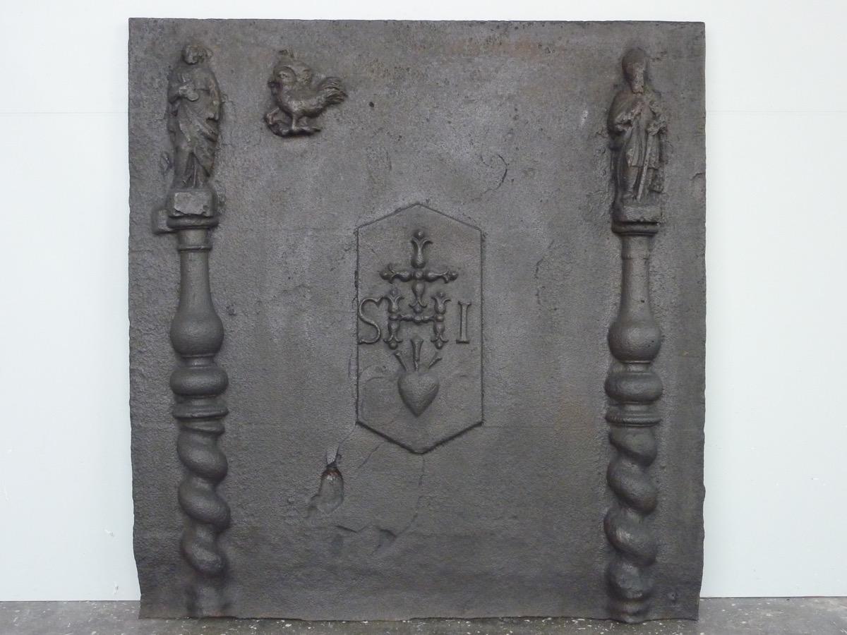 Plaque de cheminée datant du XVIIéme siècle