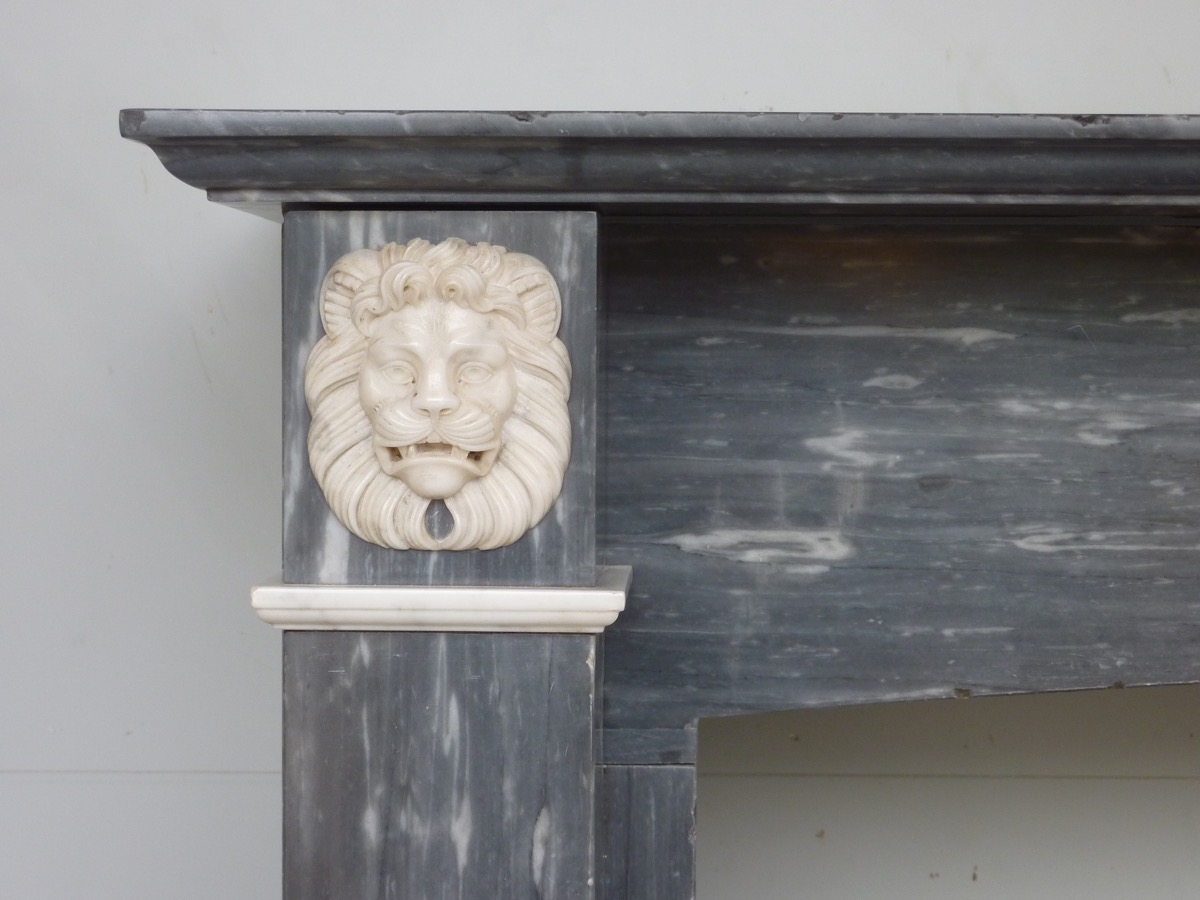 Turquin Blue Marble Fireplace Dating From The First Empire-photo-2