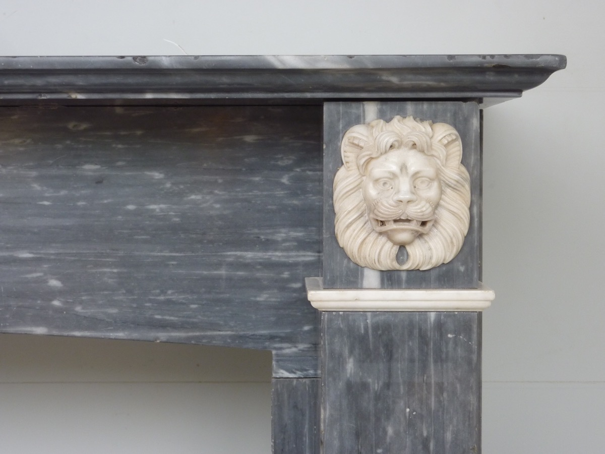 Turquin Blue Marble Fireplace Dating From The First Empire-photo-3