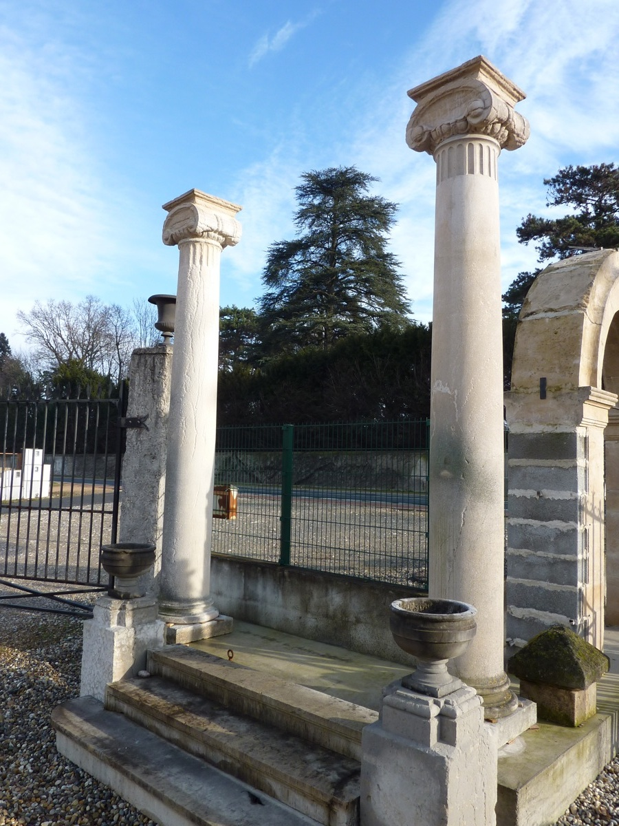 Pair Of Columns In Pierre De Bourgogne