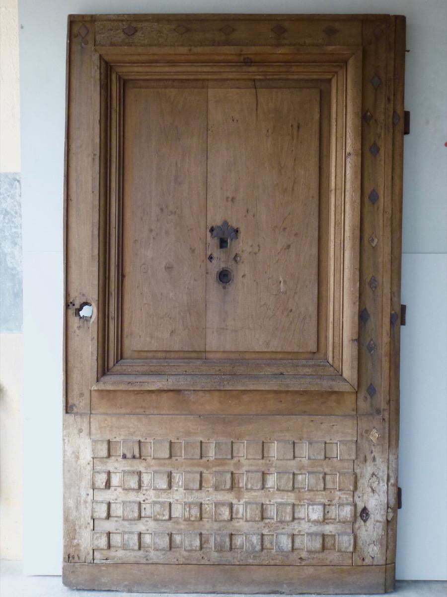 Important Door In Walnut Louis XIV
