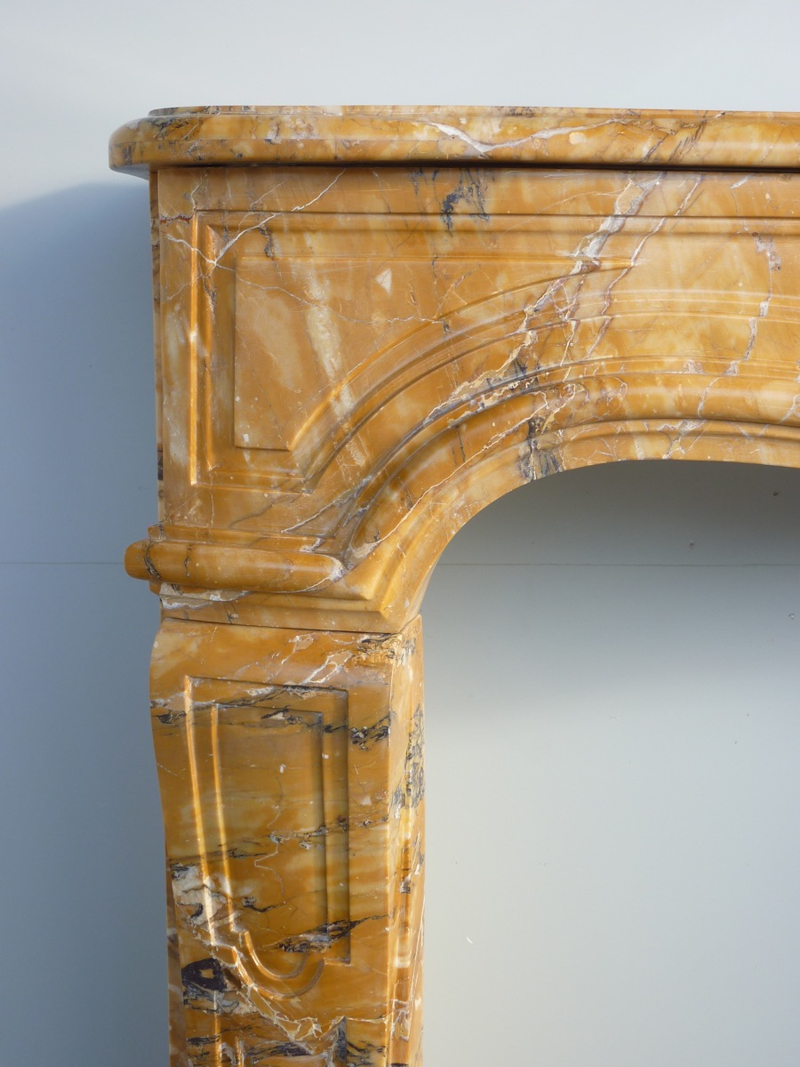 Fireplace In Yellow Maber Of Siena Louis XV-photo-1