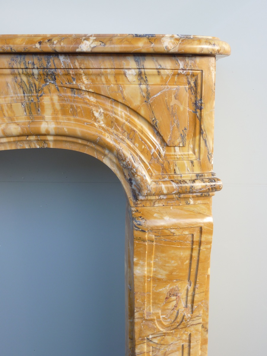 Fireplace In Yellow Maber Of Siena Louis XV-photo-2