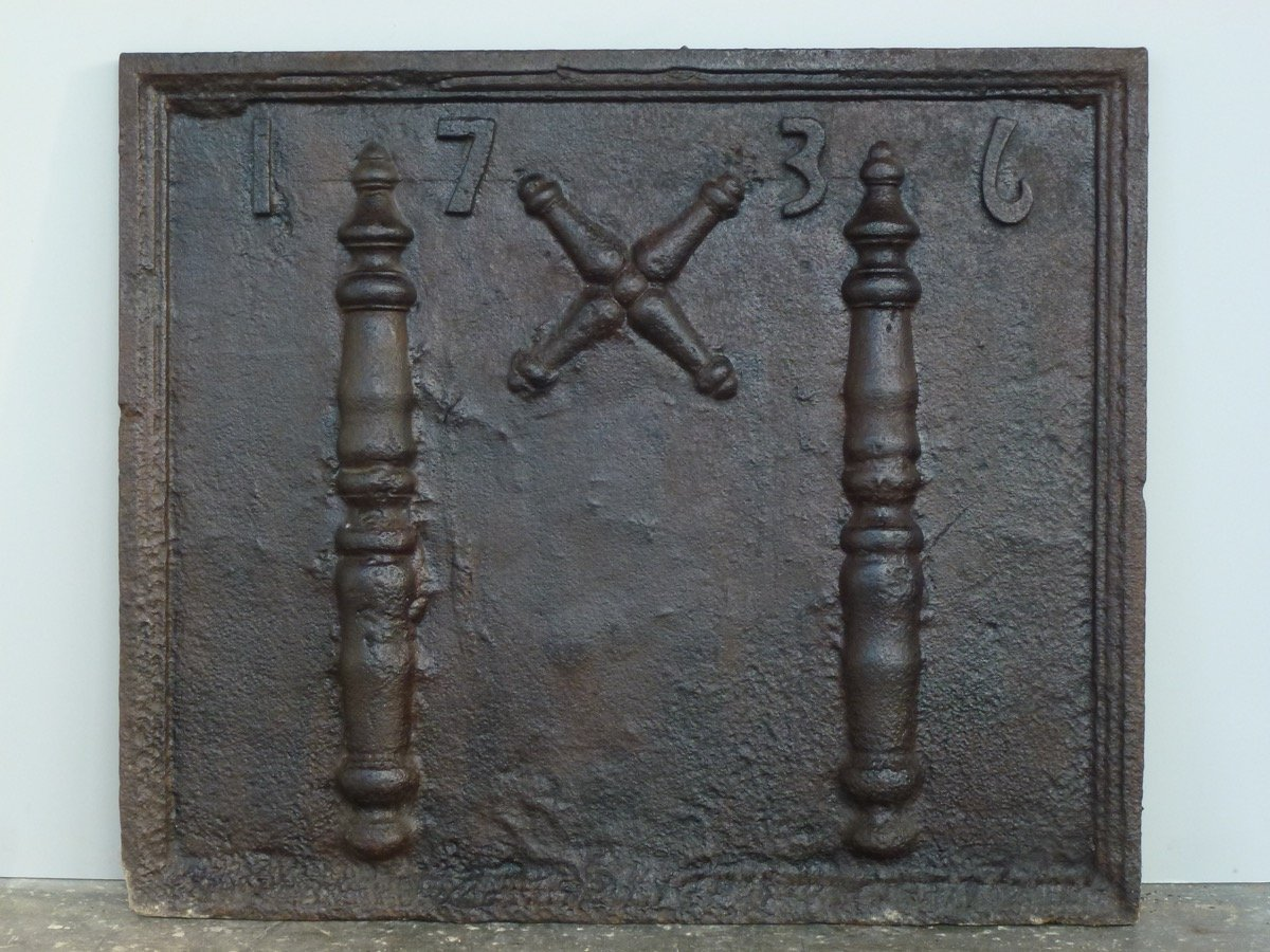 Fireplace Plate Dated 1736