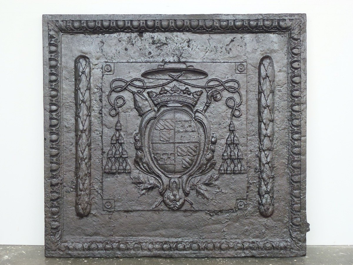 Fireback, 18th C. Period With The Arms Of Jérôme Champion De Cicé