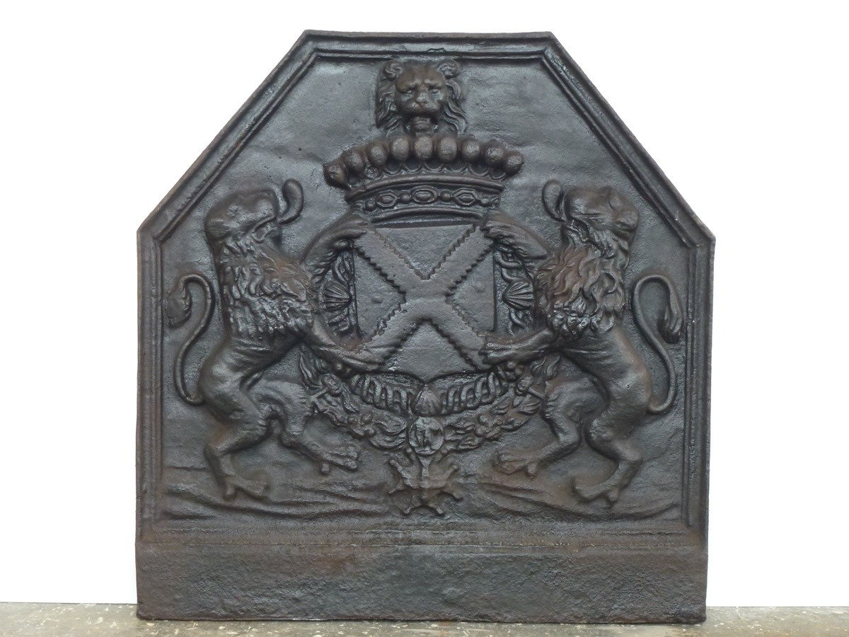 Fireplace Plate With The Arms Of René III De Froulay