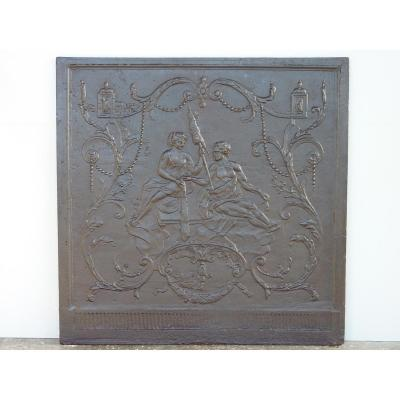 "Fireplace De Plate ""omphale And Hercules"""