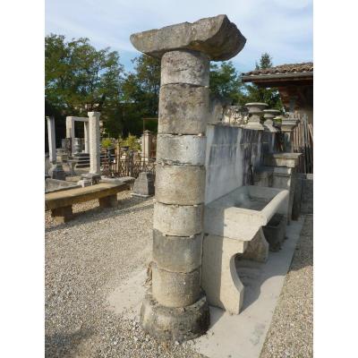 Colonne en pierre d'époque XVIIème siècle