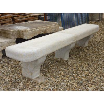 Hard Stone Park Bench