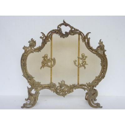 Pare-feu en bronze de style Louis XV