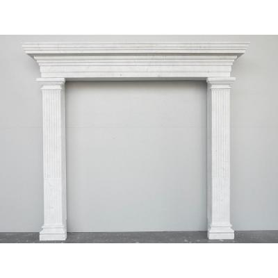 Neo-classical Carrara Marble Fireplace
