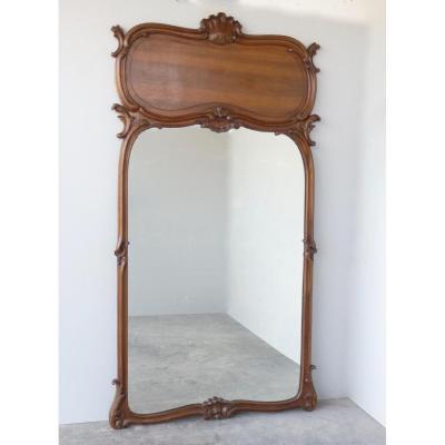 Miroir Ou Trumeau En Noyer Art Nouveau