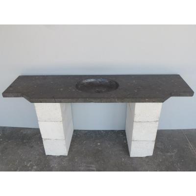 Vasque Louis XVI en pierre noire