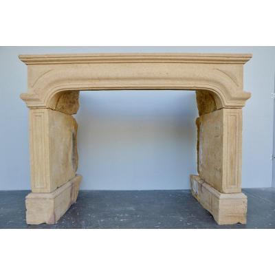 Fireplace Stone Beaujolais XVIIth Century S.