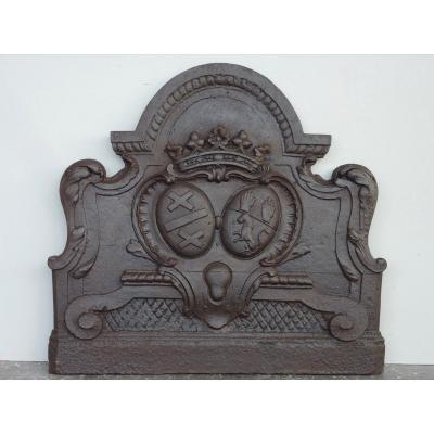 Plate Fireplace To The Weapons Of Guillaume Grou And Anne O'shiell