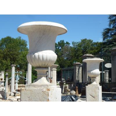 Grande paire de vases marbre