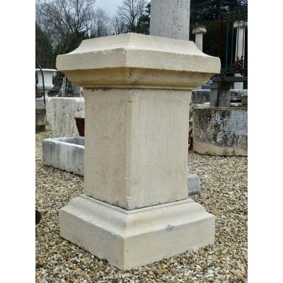 Important Stone Pedestal XIXth C.
