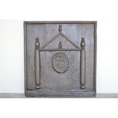 Importante plaque de cheminée au temple XVIIéme S.