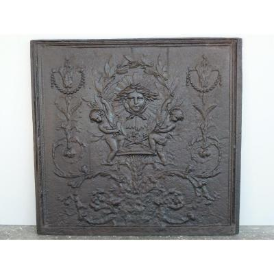 Chimney Plate With The Sun King