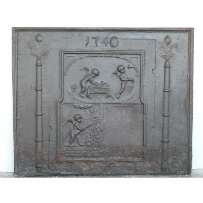 Chimney Plate With Cherubs At Lights 1740