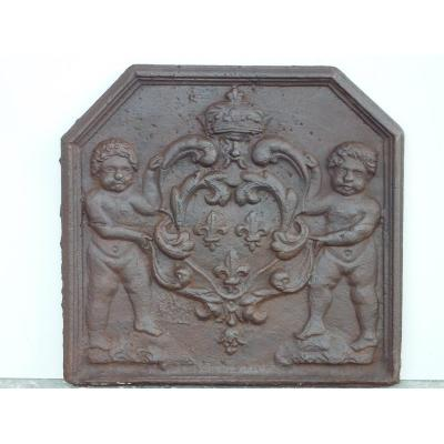 Small Chimney Plate With The Arms Of France