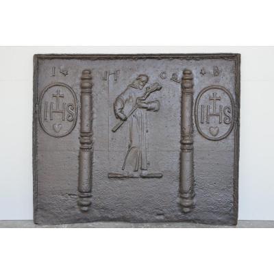 18th Century Saint Bruno Fireplace Plate