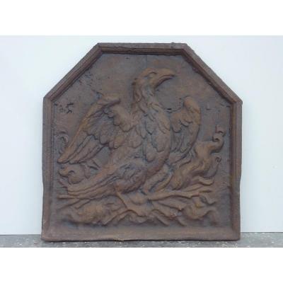 17th Century Phoenix Fireback (55 X 55 Cm)
