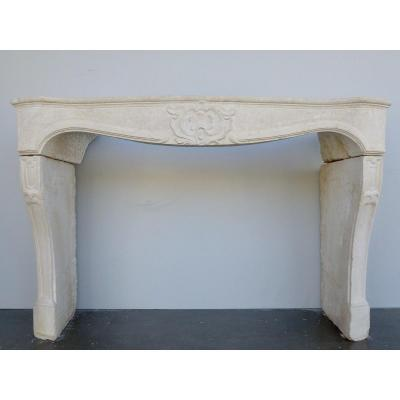 Louis XV Fireplace In Lucenay Stone
