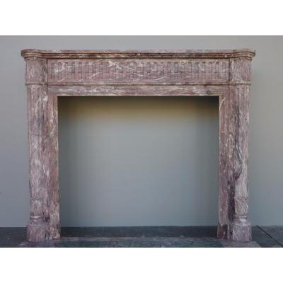 """Marble Fireplace """"peach Blossom"""" Louis XVI Style"""