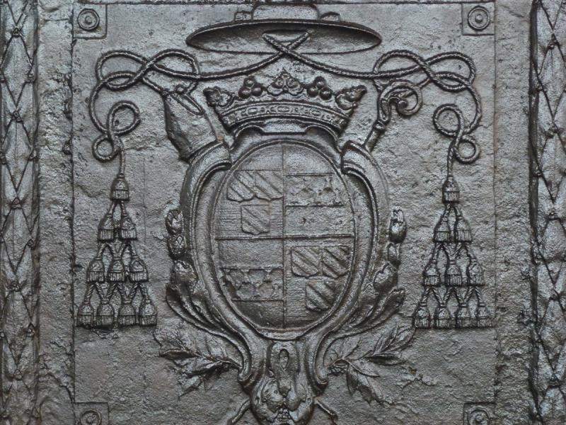 Fireback, 18th C. Period With The Arms Of Jérôme Champion De Cicé-photo-2