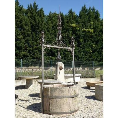 Puits en grés des Vosges et sa ferrure  Haute Epoque