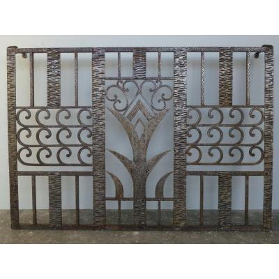 Art Deco Period Wrought Iron Gate